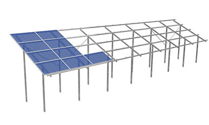 S:FLEX PV ground-mount system, horizontal installation