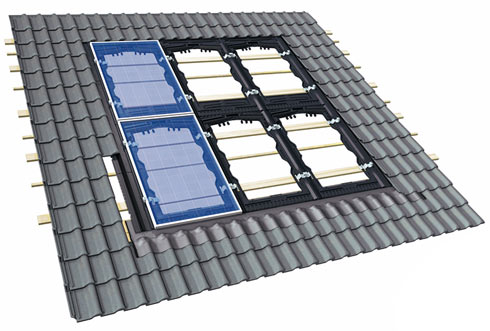 In-roof system with certified roof-tightness