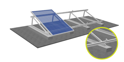 Flat-roof frames with the S:FLEX Delta triangle