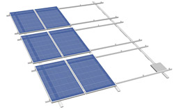 PV mounting solution for roofs with foil or bitumen roofing and sandwich roofs